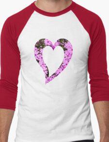Pink Phlox Flower Art Men's Baseball ¾ T-Shirt
