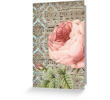 Music Rose 2 Greeting Card