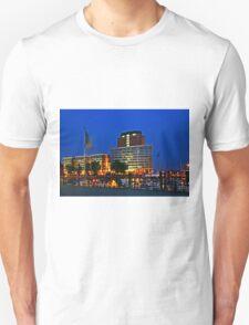 Hamburg Harbour Night Unisex T-Shirt