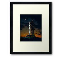 Cool Colorful Apollo Moon Mission at Launchpad Framed Print