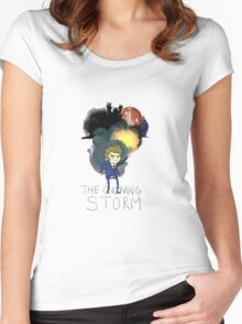10th Doctor: the Oncoming Storm Women's Fitted Scoop T-Shirt