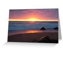 Sunset,West Coast, Tasmania Greeting Card