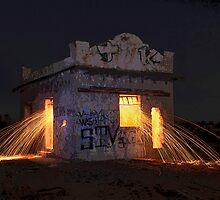 Pump House Inferno by Michael  Gunterman