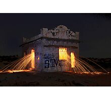 Pump House Inferno Photographic Print