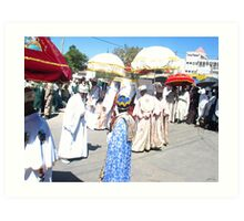 Priests carrying the Tabot during Timket Celebrations Art Print