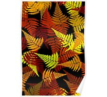 Abstract Fern Leaf Pattern Poster
