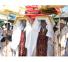 Priests carrying the Tabot during Timket Celebrations Photographic Print