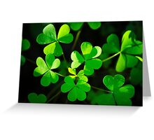 Green Clover Abstract Greeting Card