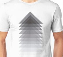 overlapping triangles greyscale design Unisex T-Shirt