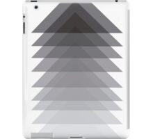 overlapping triangles greyscale design iPad Case/Skin