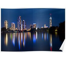 Surfers Paradise Night Poster
