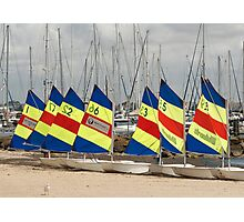 Sail boats in a row Photographic Print
