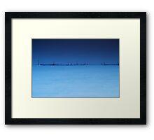 Fishnets in minimal composition Framed Print