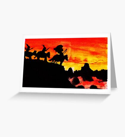 Native American Indians, Looking over Valley Greeting Card