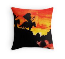 Native American Indians, Looking over Valley Throw Pillow