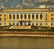 Des Moines City Hall - Grundge by Linda Miller Gesualdo
