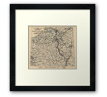 February 23 1945 World War II Twelfth Army Group Situation Map Framed Print