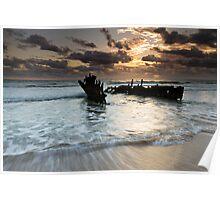 """Shipwrecked"" ∞ Caloundra, QLD - Australia Poster"