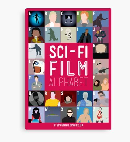The Sci-fi Film Alphabet Canvas Print