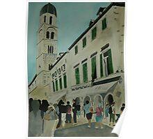 Dubrovnik Street Scene Poster