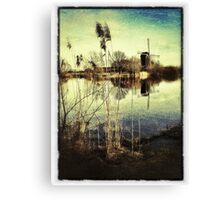 Windmill & Reeds Canvas Print