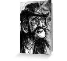 Lemmy caricature Greeting Card