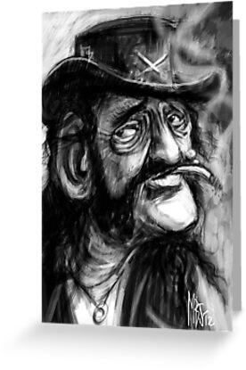 Lemmy caricature by Matt Bissett-Johnson