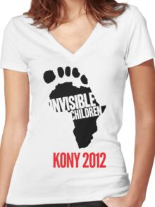 Invisible Children tee Women's Fitted V-Neck T-Shirt