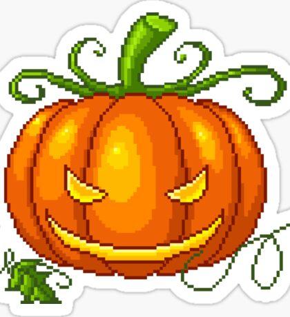 Pixel Jack O Lantern Sticker