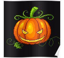 Pixel Jack O Lantern Poster