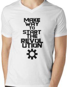 MAKE WAY TO START THE REVOLUTION Mens V-Neck T-Shirt