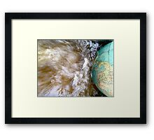 The World on a Globe in a River of Rainwater Framed Print