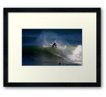 Ben Player Back Flip Shark Island Framed Print