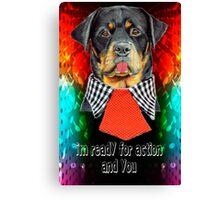 Rottweiler dog ready elegant  Canvas Print