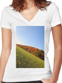 Autumn Alley Women's Fitted V-Neck T-Shirt