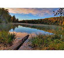 Pink Lake Reflections Photographic Print