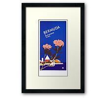 Colorful Blue Bermuda in Oleander Time Travel Framed Print