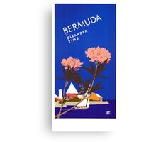 Colorful Blue Bermuda in Oleander Time Travel Canvas Print