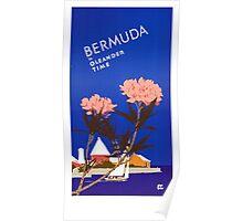Colorful Blue Bermuda in Oleander Time Travel Poster