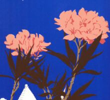 Colorful Blue Bermuda in Oleander Time Travel Sticker