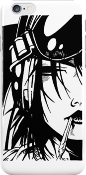 Jet Girl iPhone Case by Mimi Robinson