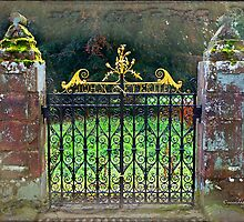 Delgatie Castle Backyard Gate (near Turriff, in Aberdeenshire, Scotland) by Yannik Hay