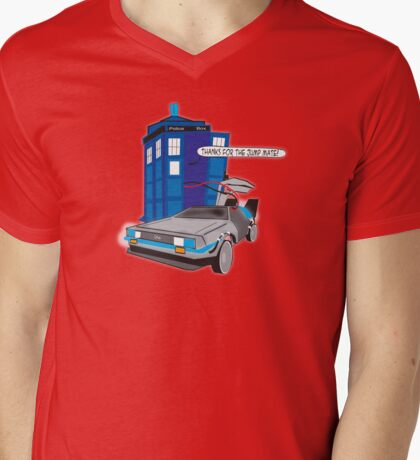 Time Travel Jump Start Mens V-Neck T-Shirt