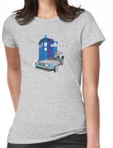 Time Travel Jump Start Womens Fitted T-Shirt