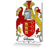 Gibson Coat of Arms / Gibson Family Crest Greeting Card