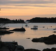Sunset in Stonington, Maine by Mary Duffy
