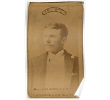 Benjamin K Edwards Collection Capt John Ward New York Giants baseball card portrait Poster
