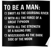 To Be A Man Poster