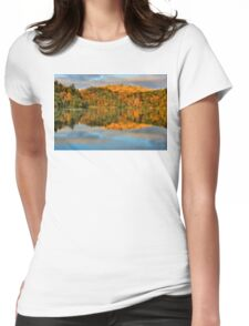 Pink Lake Reflections Womens Fitted T-Shirt