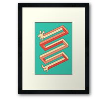 Physics doesn't apply to weiner dogs Framed Print